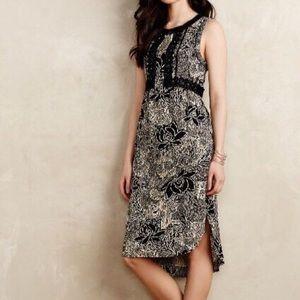 Anthropologie Sz 6 Printed Midi Dress EUC